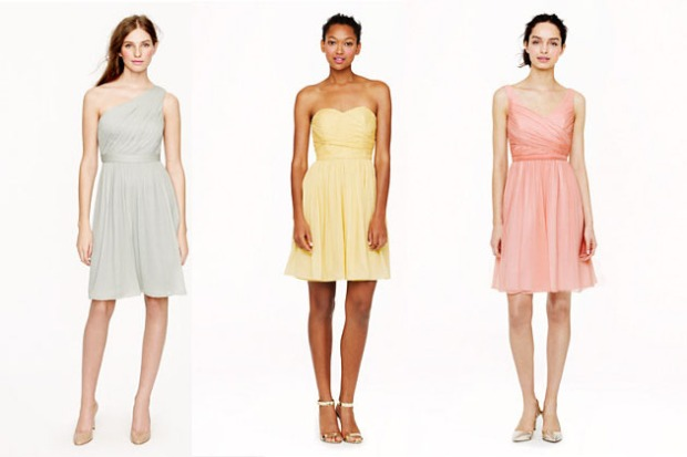 J.Crew Silk Chiffon Bridesmaid Dresses