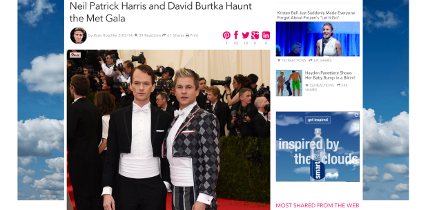 Neil Patrick Harris and David Burtka at the Met Gala