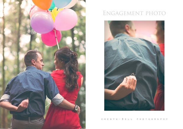 Engagement Photo Balloons