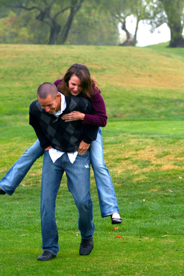 Piggyback Engagement Photo