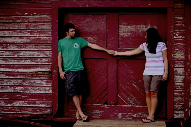 Holding Hands Engagement Photo