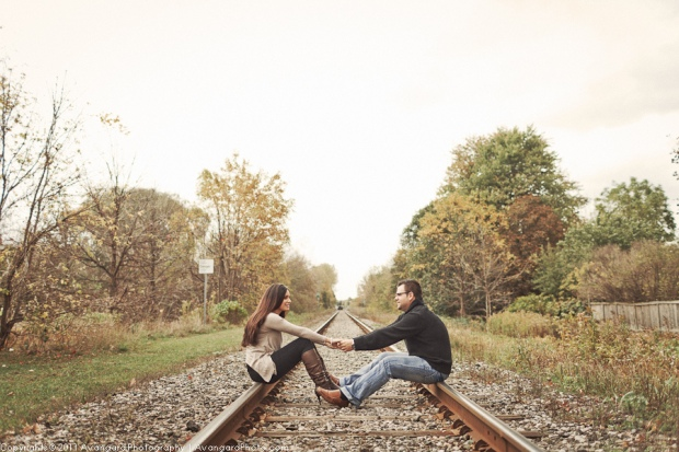 Train Tracks Engagement Photo