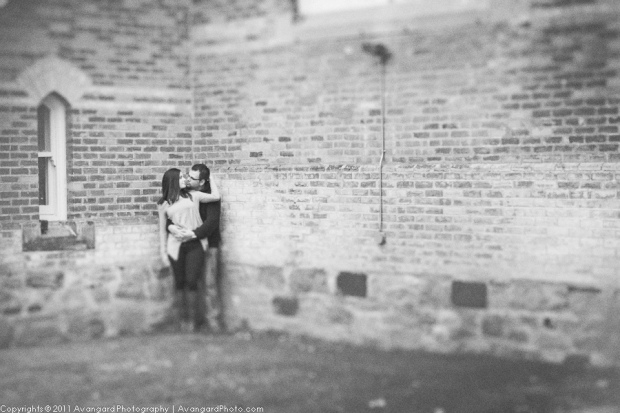 Exposed Brick Engagement Photo
